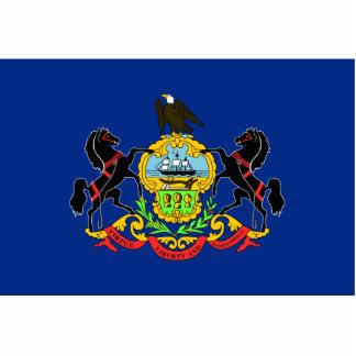 Llavero de la bandera de Pennsylvania cortado Esculturas Fotográficas