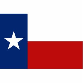 Llavero de la bandera de Tejas cortado Esculturas Fotograficas
