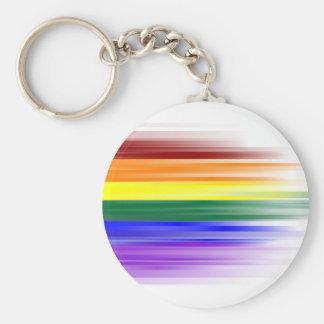 Llavero de la bandera del arco iris clásico