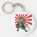 Llavero de la bandera del samurai
