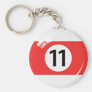 Llavero de la bola de piscina del número once