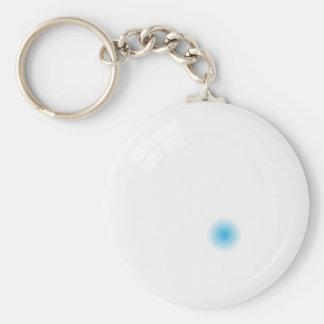 Llavero de la bola de señal bola de piscina blanc