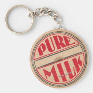 Llavero de la cápsula de leche del vintage