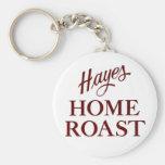 Llavero de la carne asada del hogar de Hayes