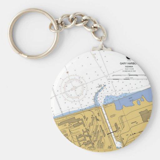 Llavero de la carta del puerto de la navegación de