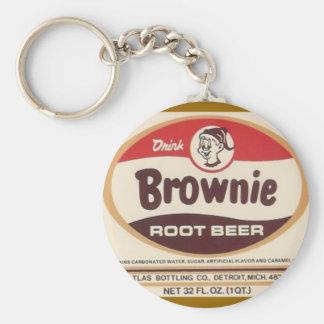 llavero de la cerveza de raíz del brownie