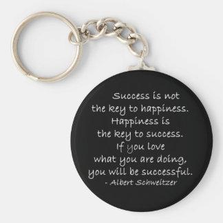 Llavero de la cita del éxito