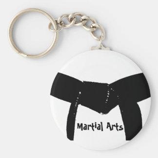 Llavero de la correa negra de los artes marciales