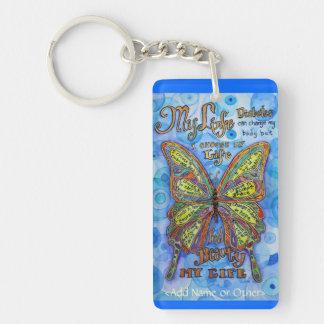 Llavero de la diabetes de la mariposa del arco