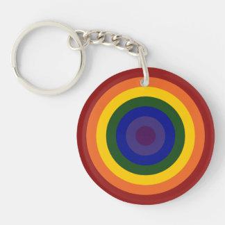 Llavero de la diana del arco iris