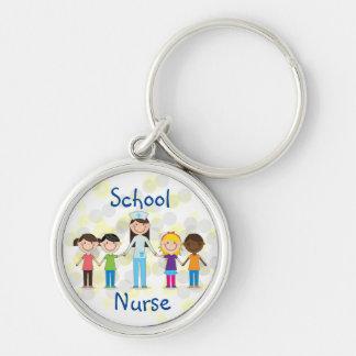 Llavero de la enfermera de la escuela