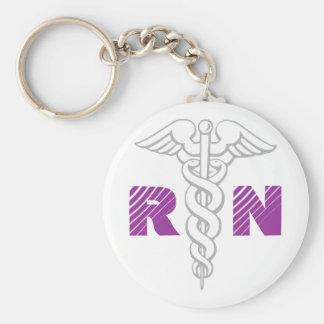 Llavero de la enfermera registradoa con símbolo