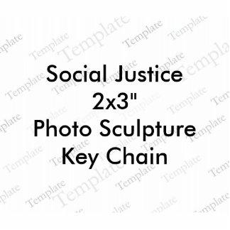 Llavero de la escultura de la foto de la justicia llavero fotográfico
