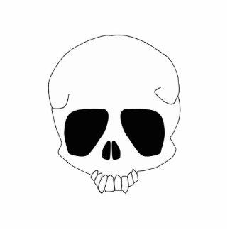 Llavero de la escultura del cráneo del dibujo anim llavero fotográfico