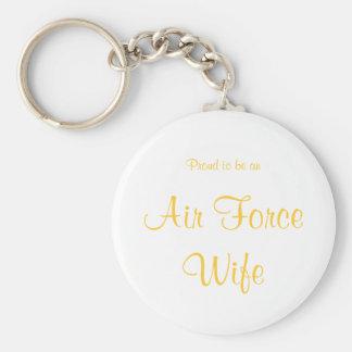 Llavero de la esposa de la fuerza aérea (amarillo)