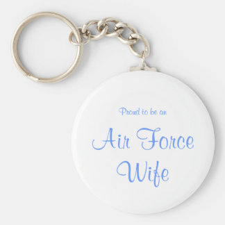 Llavero de la esposa de la fuerza aérea, azul