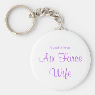 Llavero de la esposa de la fuerza aérea (lavanda)