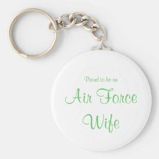 Llavero de la esposa de la fuerza aérea, verde