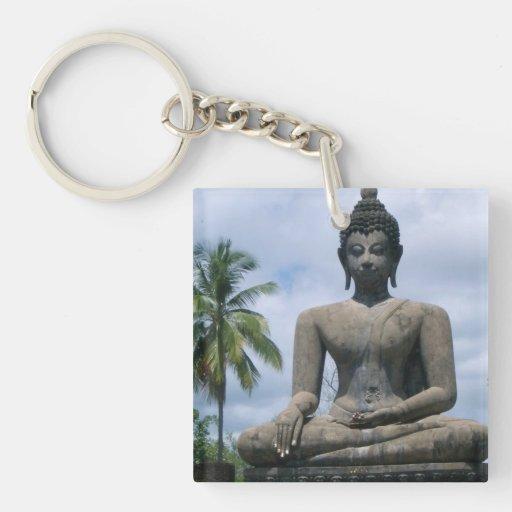 Llavero de la estatua de Buda