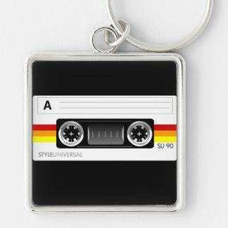 Llavero de la etiqueta de la cinta de casete
