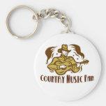 Llavero de la fan de música country