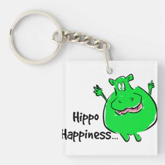 Llavero de la felicidad del hipopótamo