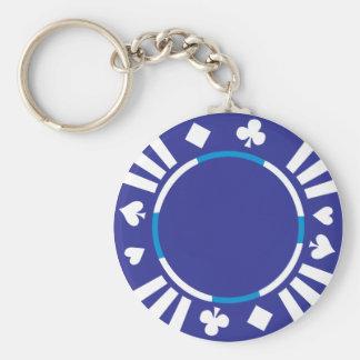 Llavero de la ficha de póker