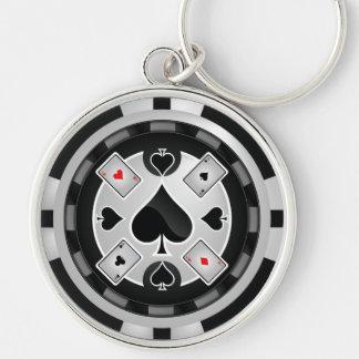 Llavero de la ficha de póker del casino