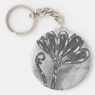 Llavero de la flor del espacio del carbono