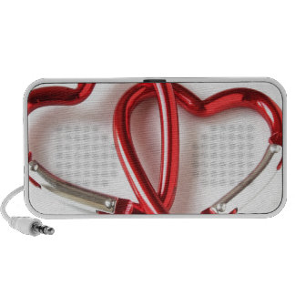 Llavero de la forma del corazón Amor iPod Altavoz