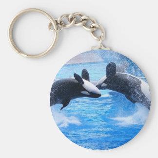 Llavero de la foto de la ballena