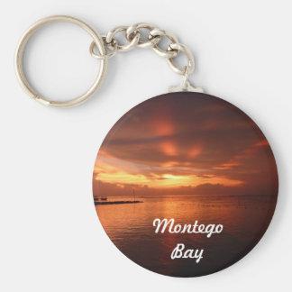 Llavero de la foto de la puesta del sol de Montego