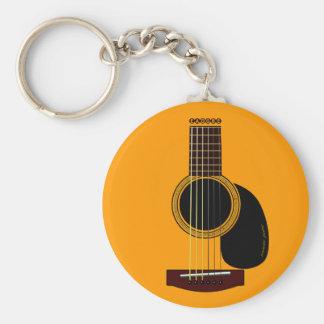 llavero de la guitarra acústica