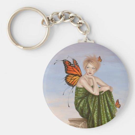 Llavero de la hada de la mariposa de monarca de la