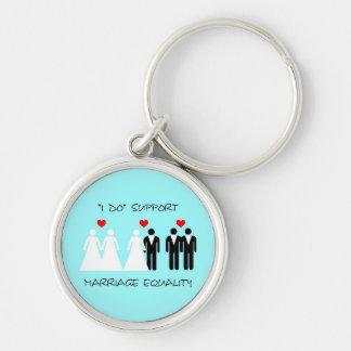 Llavero de la igualdad de la boda de la ayuda - re