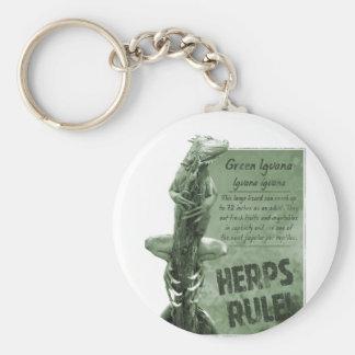 Llavero de la iguana de la regla de Herps