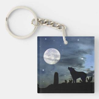 Llavero de la luna del coyote