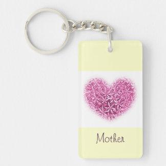 Llavero de la madre con diseño del corazón