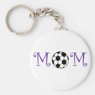 Llavero de la mamá del fútbol, púrpura