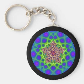 Llavero de la mandala de la ilusión óptica