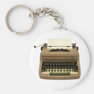 Llavero de la máquina de escribir del vintage