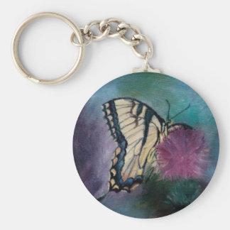 Llavero de la mariposa de la belleza