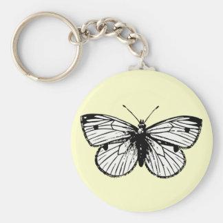 Llavero de la mariposa de Rapae del Pieris