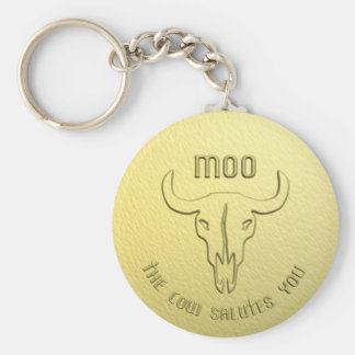 Llavero de la medalla de la vaca