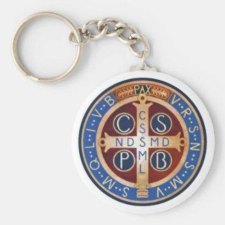 Llavero de la medalla del exorcismo del St. Benedi