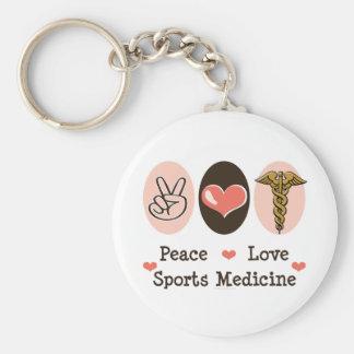 Llavero de la medicina de deportes del amor de la
