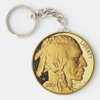 Llavero de la moneda de oro