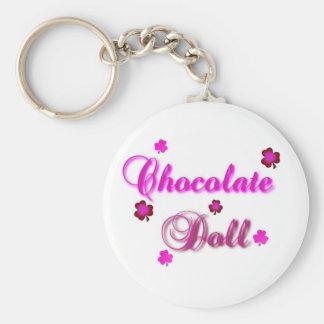Llavero de la muñeca del chocolate
