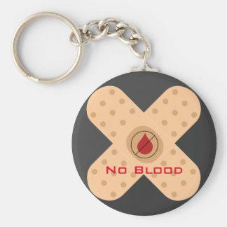 Llavero de la No-Sangre del diseñador con el texto