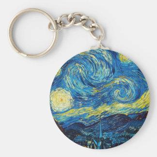 Llavero de la noche estrellada de Van Gogh